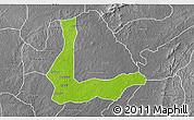 Physical 3D Map of Abakalik, desaturated