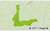 Physical 3D Map of Abakalik, lighten