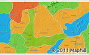 Physical 3D Map of Abakalik, political outside