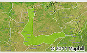 Physical 3D Map of Abakalik, satellite outside