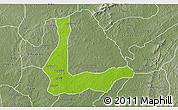 Physical 3D Map of Abakalik, semi-desaturated