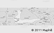 Silver Style Panoramic Map of Abakalik