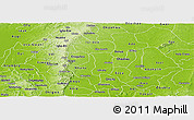 Physical Panoramic Map of Enugu