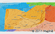 Political Shades Panoramic Map of FCT