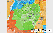 Political Shades Map of Imo