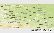 Physical Panoramic Map of Jigawa