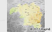 Physical 3D Map of Kaduna, desaturated