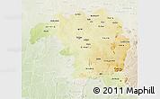 Physical 3D Map of Kaduna, lighten