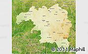 Physical 3D Map of Kaduna, satellite outside