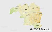 Physical 3D Map of Kaduna, single color outside