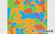 Political 3D Map of Kaduna