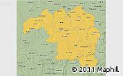 Savanna Style 3D Map of Kaduna