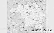 Silver Style 3D Map of Kaduna