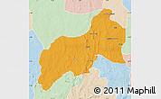 Political Map of Birnin-G, lighten