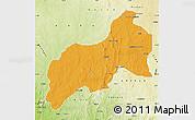 Political Map of Birnin-G, physical outside