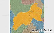 Political Map of Birnin-G, semi-desaturated