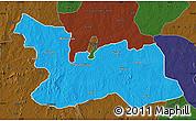 Political Map of Chikun, darken