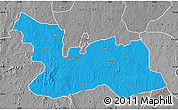 Political Map of Chikun, desaturated