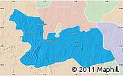 Political Map of Chikun, lighten