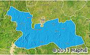 Political Map of Chikun, satellite outside