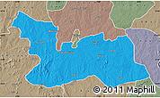 Political Map of Chikun, semi-desaturated