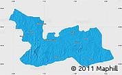 Political Map of Chikun, single color outside