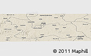 Shaded Relief Panoramic Map of Chikun