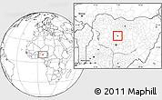 Blank Location Map of Doka/Kaw