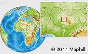 Physical Location Map of Doka/Kaw