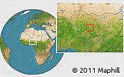 Satellite Location Map of Doka/Kaw
