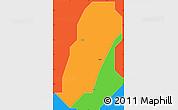Political Simple Map of Doka/Kaw
