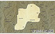 Physical 3D Map of Giwa, darken