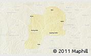 Physical 3D Map of Giwa, lighten