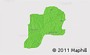 Political 3D Map of Giwa, cropped outside