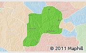 Political 3D Map of Giwa, lighten
