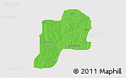 Political 3D Map of Giwa, single color outside