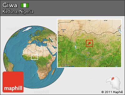 Satellite Location Map of Giwa