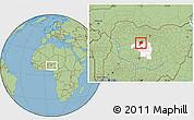 Savanna Style Location Map of Giwa, highlighted parent region