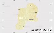 Physical Map of Giwa, cropped outside