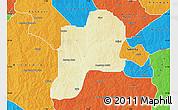 Physical Map of Giwa, political outside