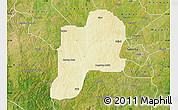 Physical Map of Giwa, satellite outside
