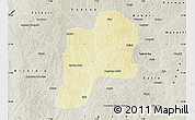 Physical Map of Giwa, semi-desaturated