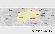 Physical Panoramic Map of Giwa, desaturated