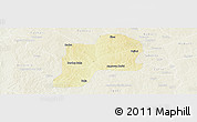 Physical Panoramic Map of Giwa, lighten