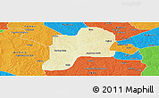 Physical Panoramic Map of Giwa, political outside