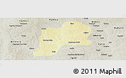 Physical Panoramic Map of Giwa, semi-desaturated