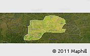 Satellite Panoramic Map of Giwa, darken