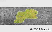 Satellite Panoramic Map of Giwa, desaturated