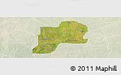 Satellite Panoramic Map of Giwa, lighten