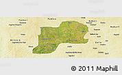 Satellite Panoramic Map of Giwa, physical outside